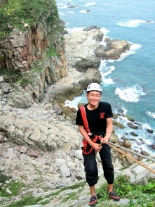 準備下降!第一洞 All set for descent, First Cave