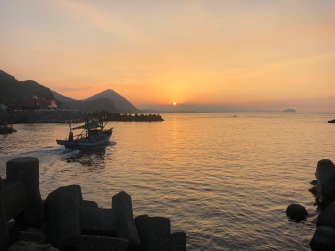 Catch a beautiful sunset at Bitou Harbour